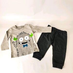 Pekkle - Boys 2 Piece Monster Set